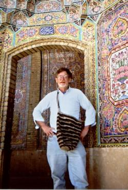 Ed visiting a mosque in Iran