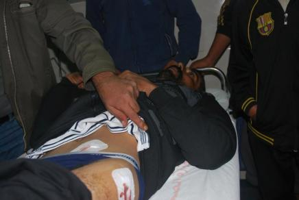 The Israeli Navy shot Gazan fisherman, Mosa'ad Baker, and confiscated his boat on Dec 17, 2012
