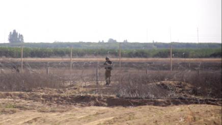 Israeli soldier aiming
