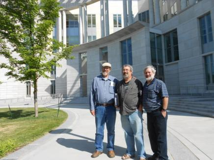 Left to Right Mark Kenney, Brian Terrell and Ron Faust: In front of the Jefferson City, Missouri US Court