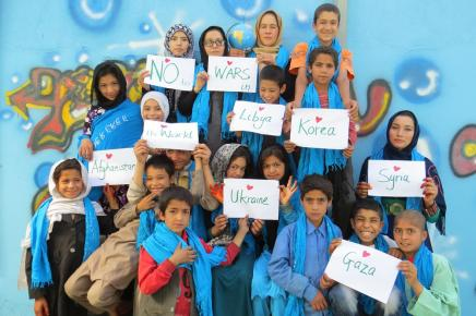 Afghan street children at the Borderfree Center