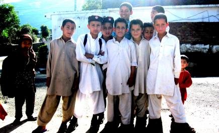 Schoolkids from Swat: Photo taken by G. Simon Harak