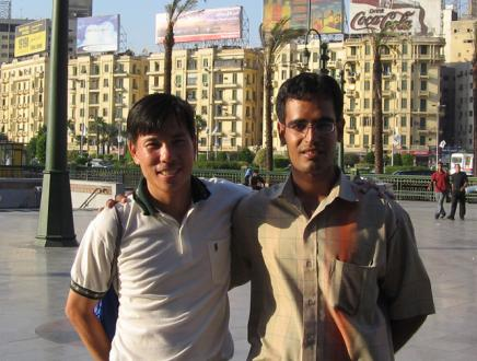 Sherif and I in Cairo, 2006
