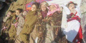Twelve children killed in the Kunar province, April 2013: Photo credit:  Namatullah Karyab for The New York Times