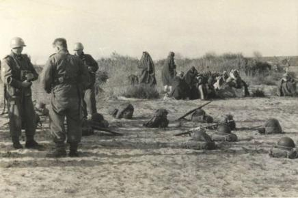 UNEF forces in Gaza, 1957 Photo- Palestine Remembered