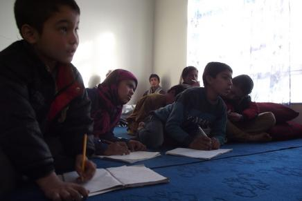 Tutoring program for street kids: photo by Maya Evans