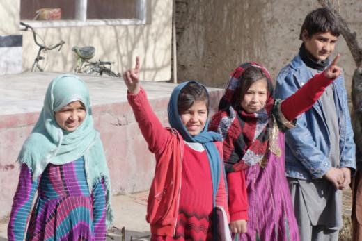 Bey-Nazir, 11 (left), Adila, 10, Fatima, 12, and Hadi, 12.