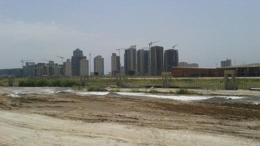 Empty buildings and cranes, Erbil