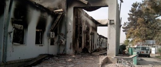 The damaged hospital in which the Medecins Sans Frontieres (MSF) medical charity operated is seen on October 13, 2015 following an air strike in the northern city of Kunduz. Thirty-three people are still missing days after a US air strike on an Afghan hospital, the medical charity has warned, sparking fears the death toll could rise significantly. AFP PHOTO        (Photo credit should read STR/AFP/Getty Images)
