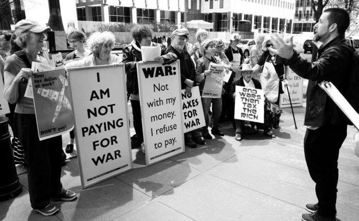 war tax refusers in NYC 2016