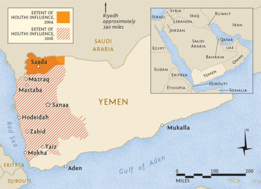 Yemen map Harper's